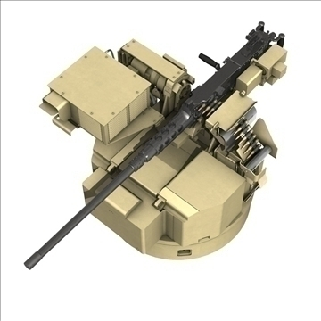 remote weapon station (rws) browning m2 3d model c4d 104419