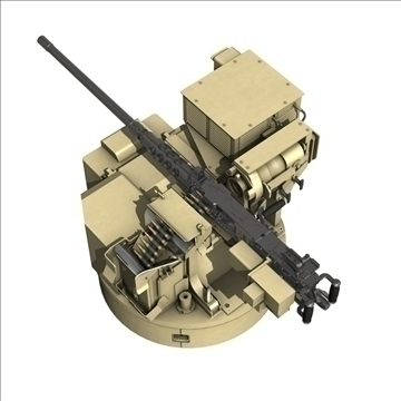 remote weapon station (rws) browning m2 3d model c4d 104420