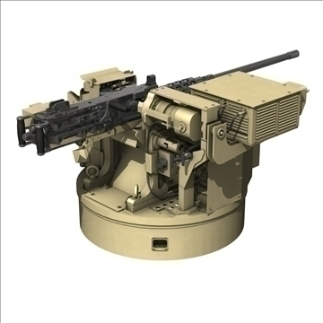 remote weapon station (rws) browning m2 3d model c4d 104421