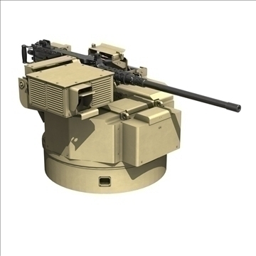 remote weapon station (rws) browning m2 3d model c4d 104422