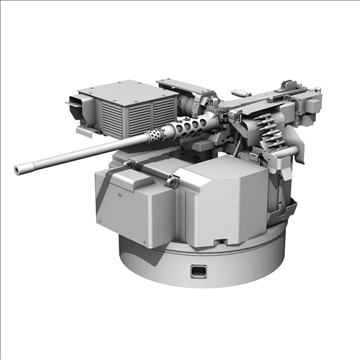 remote weapon station (rws) browning m2 3d model c4d 104423