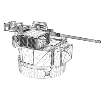 remote weapon station (rws) browning m2 3d model c4d 104425