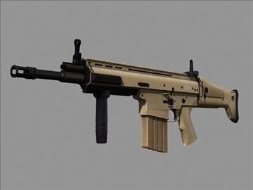 scar h 3d model max 102786