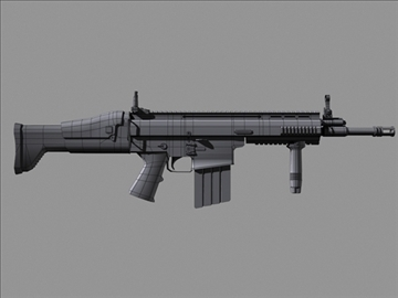 scar h 3d model max 102788