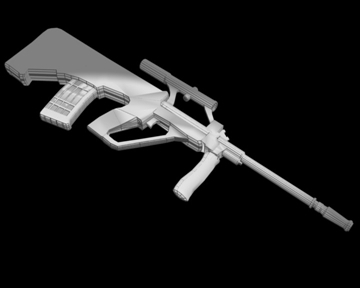 steyr aug 3d model 3ds blend 107065