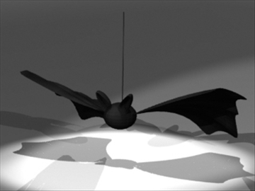 bat ornament 3d model 3ds dxf fbx 80991