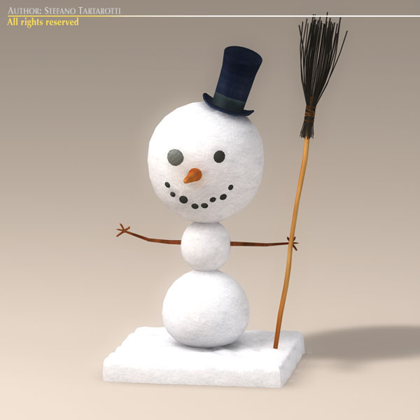 cartoon snowman 3d model 3ds dxf fbx c4d dae obj 118781