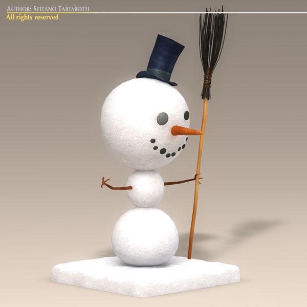 cartoon snowman 3d model 3ds dxf fbx c4d dae obj 118782