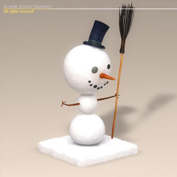 cartoon snowman 3d model 3ds dxf fbx c4d dae obj 118783