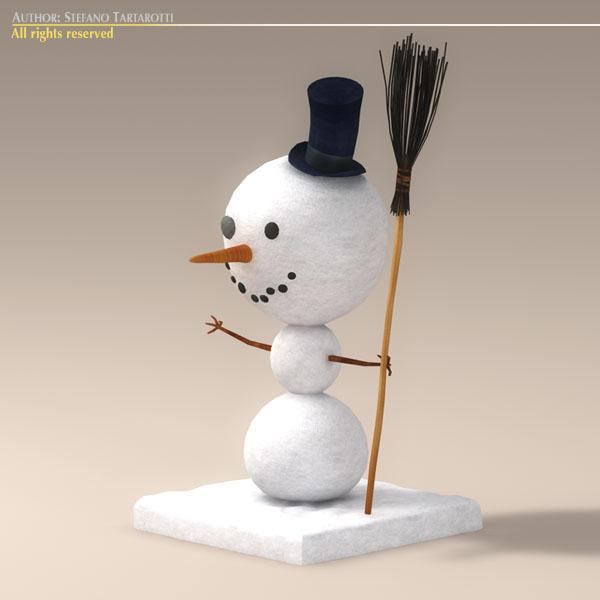 cartoon snowman 3d model 3ds dxf fbx c4d dae obj 118784