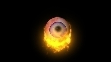 flaming eye 3d model ma mb 106570