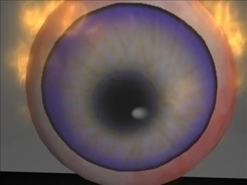 lángoló szem 3d modell ma mb 106575