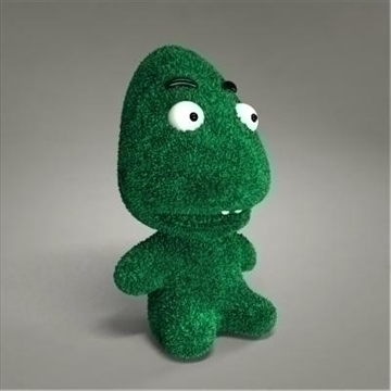 green monster toy 3d model max 107141