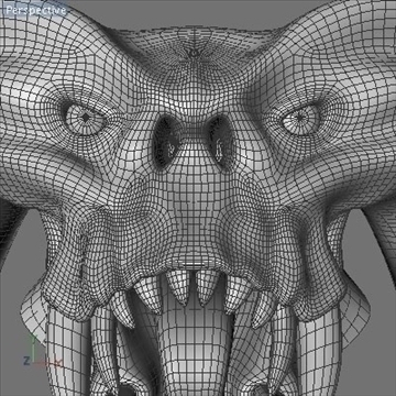 monster head.zip 3d modelis 3ds dxf fbx c4d x obj 87977