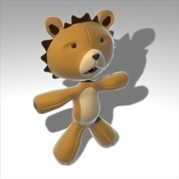 plush lion 3d model 3ds max obj 82557