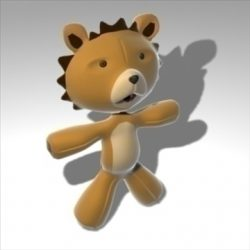 Plush lion ( 49.23KB jpg by madaeon )