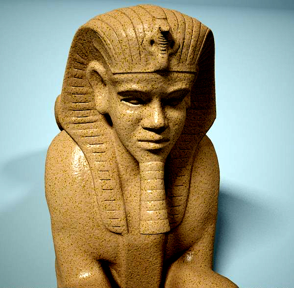statue of sphinx 3d model 3ds max dxf fbx c4d dae lwo ma mb 3dm hrc xsi  obj 121826