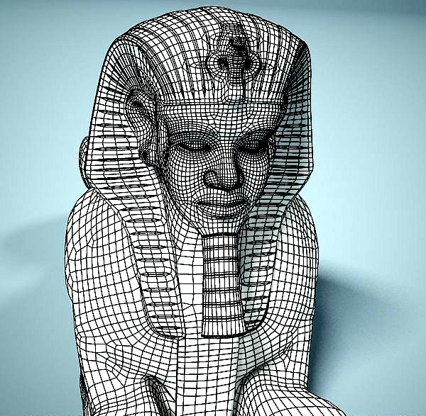 statue of sphinx 3d model 3ds max dxf fbx c4d dae lwo ma mb 3dm hrc xsi  obj 121827