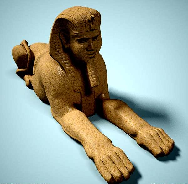 statue of sphinx 3d model 3ds max dxf fbx c4d dae lwo ma mb 3dm hrc xsi  obj 121829