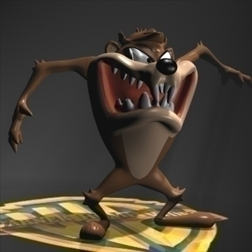 taz tasmanian devil rigged 3d model 3ds max fbx obj 107324