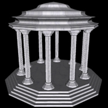 ancient temple 3d model obj 109461