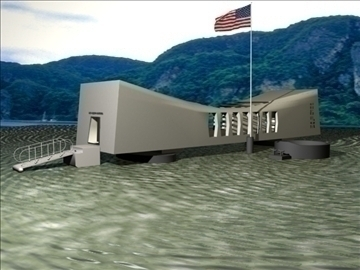 arizona memorial 3d model 3ds max 79546