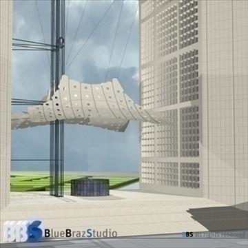 grande arche 3d model 3ds dxf c4d obj 103713