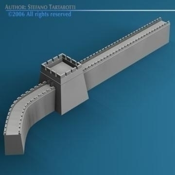 greatwall 3d model 3ds dxf c4d obj 78410
