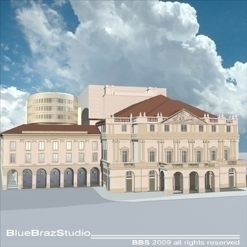 la scala theatre 3d model 3ds dxf c4d obj 99057