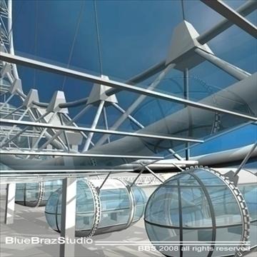 London Eye 3d líkan 3ds dxf c4d obj 92005