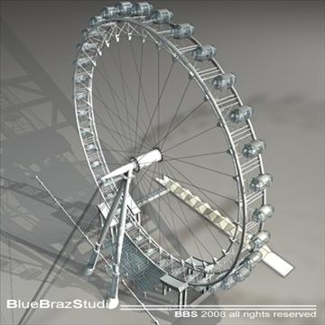 london eye 3d model 3ds dxf c4d obj 92007
