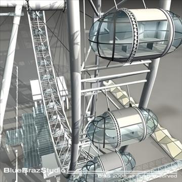 London Eye 3d líkan 3ds dxf c4d obj 92008