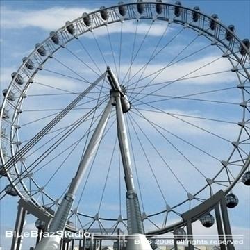 London Eye 3d líkan 3ds dxf c4d obj 92009