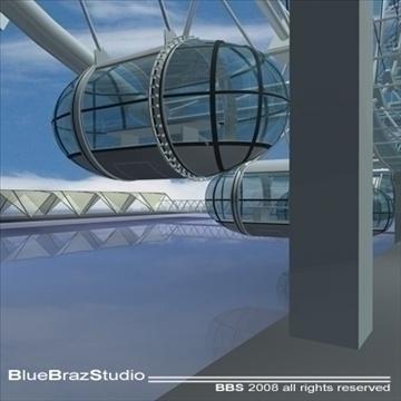 London Eye 3d líkan 3ds dxf c4d obj 92010