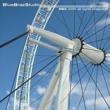 London Eye 3d líkan 3ds dxf c4d obj 92011