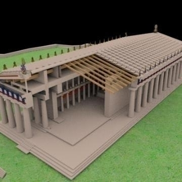 Parthenon 3d líkan 3ds max 78837