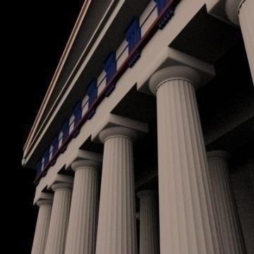 Parthenon 3d líkan 3ds max 78838