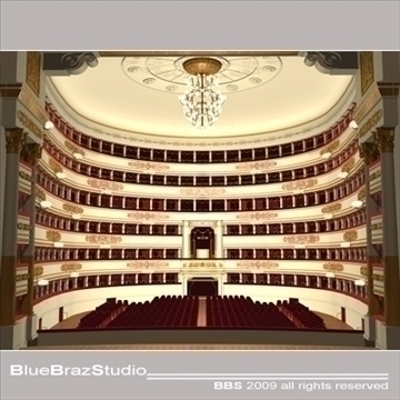 scala theatre 3d model 3ds dxf c4d obj 101479