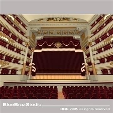 scala theatre 3d model 3ds dxf c4d obj 101481