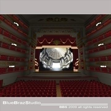 scala theatre 3d model 3ds dxf c4d obj 101483