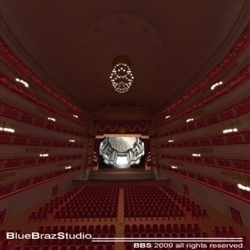 scala theatre 3d model 3ds dxf c4d obj 101487