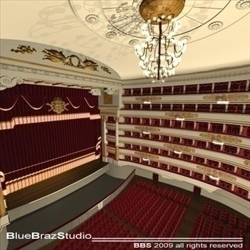 scala theatre 3d model 3ds dxf c4d obj 101488