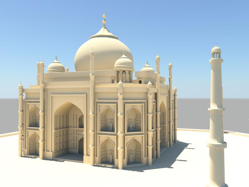 Taj Mahal 3d Image: Taj Mahal 3D Model – Buy Taj Mahal 3D Model