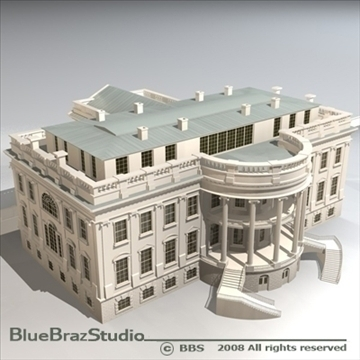 the white house v2 3d model 3ds dxf c4d obj 91886