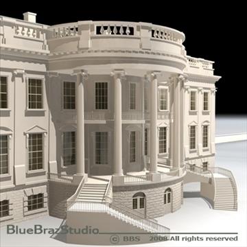 the white house v2 3d model 3ds dxf c4d obj 91887