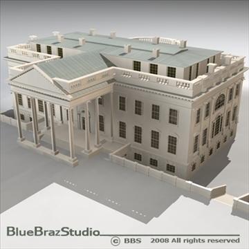 the white house v2 3d model 3ds dxf c4d obj 91888