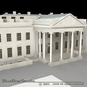 the white house v2 3d model 3ds dxf c4d obj 91889