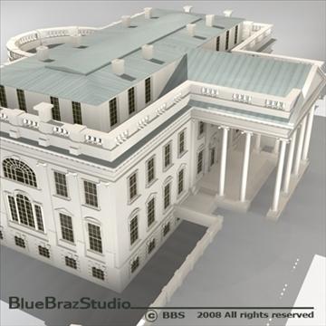 the white house v2 3d model 3ds dxf c4d obj 91890
