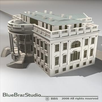 the white house v2 3d model 3ds dxf c4d obj 91891