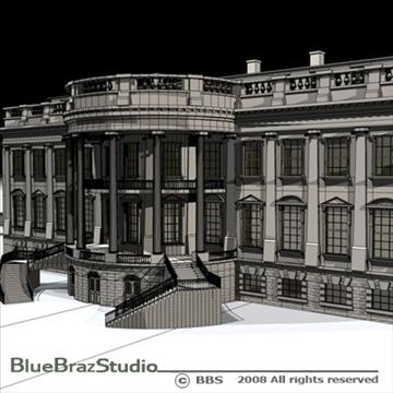 the white house v2 3d model 3ds dxf c4d obj 91892